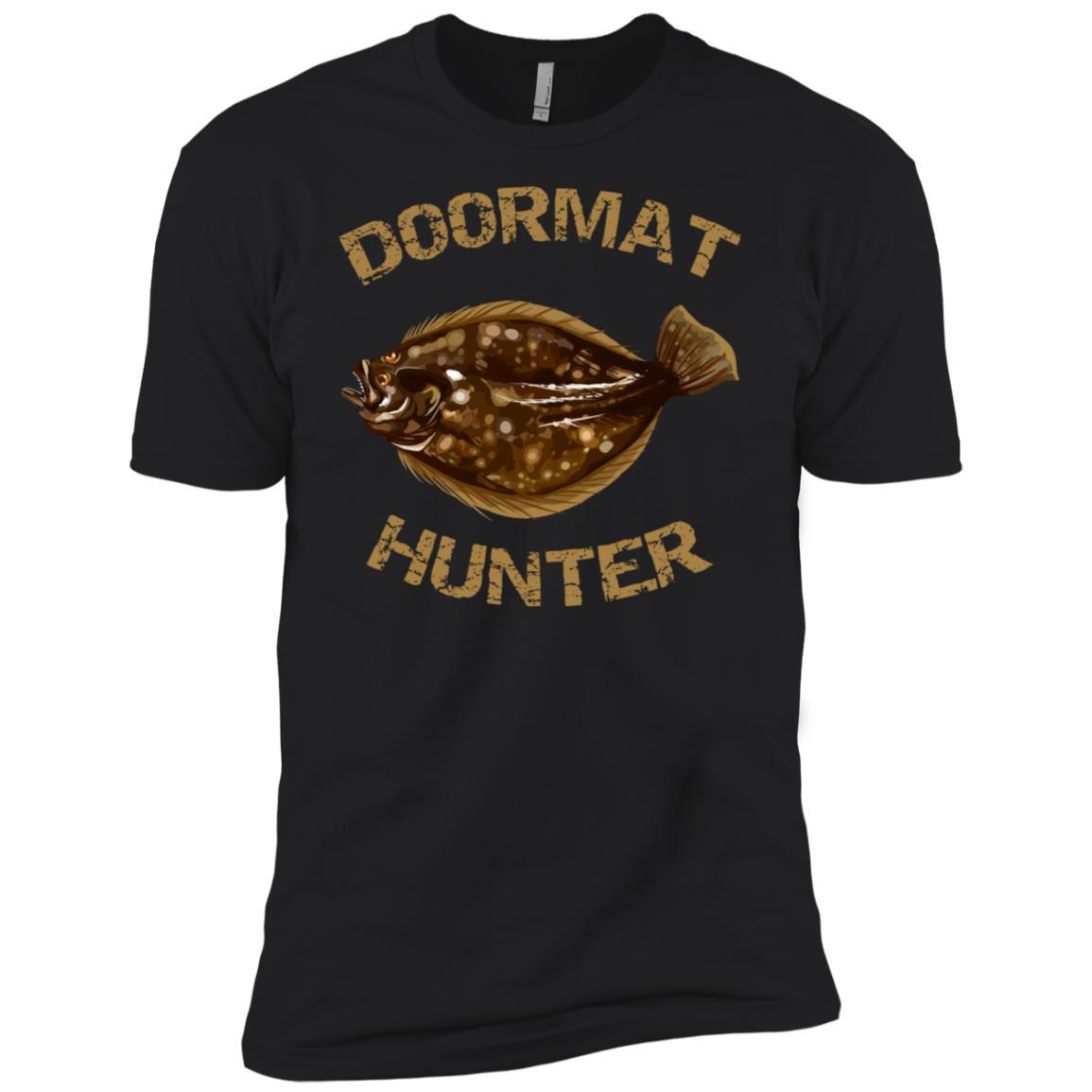 Doormat Hunter Summer Flounder Fishing Men Short Sleeve T-Shirt