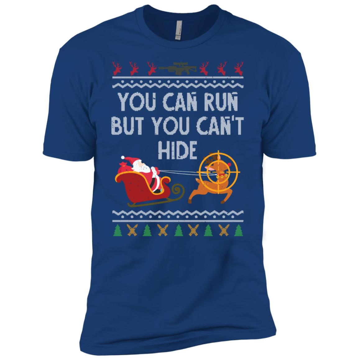 Deer Hunting Santa Hunter Ugly Christmas Sweater Style-1 Men Short Sleeve T-Shirt
