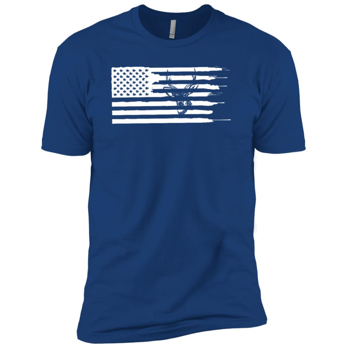 Deer Hunting American Flag Men Short Sleeve T-Shirt