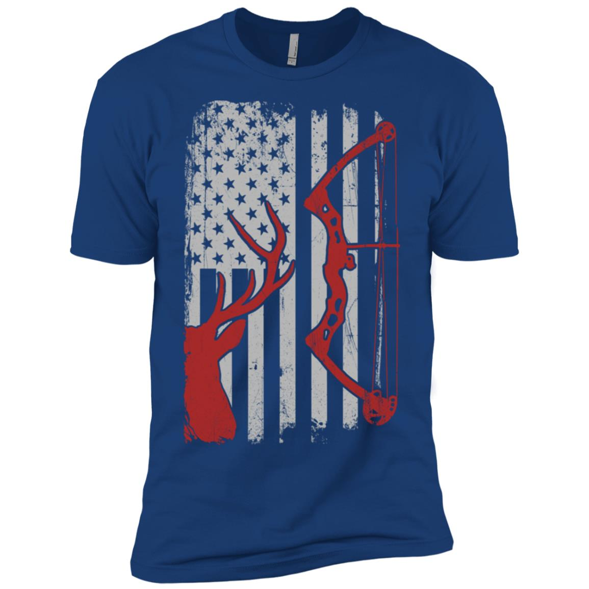 Deer Hunting – American Flag Bowhunting Men Short Sleeve T-Shirt