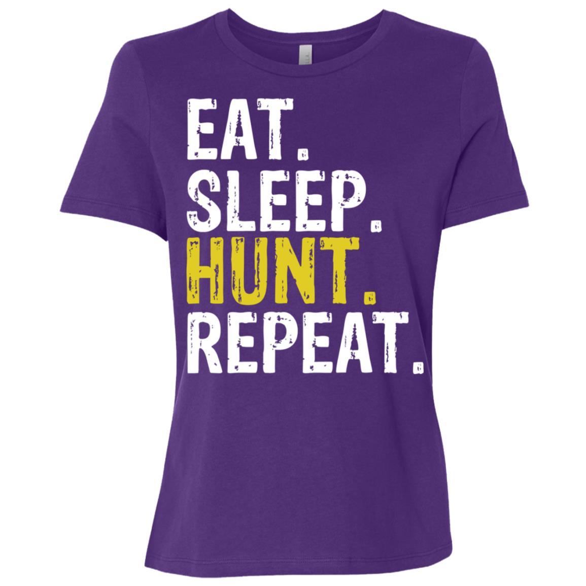 Eat Sleep Hunt Repeat Hunting Hunter Gift Women Short Sleeve T-Shirt