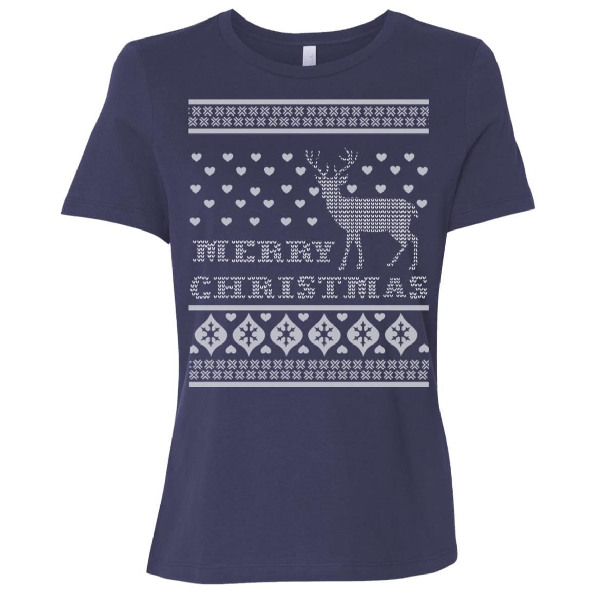 Deer Ugly Christmas Perfect unisex gift Women Short Sleeve T-Shirt