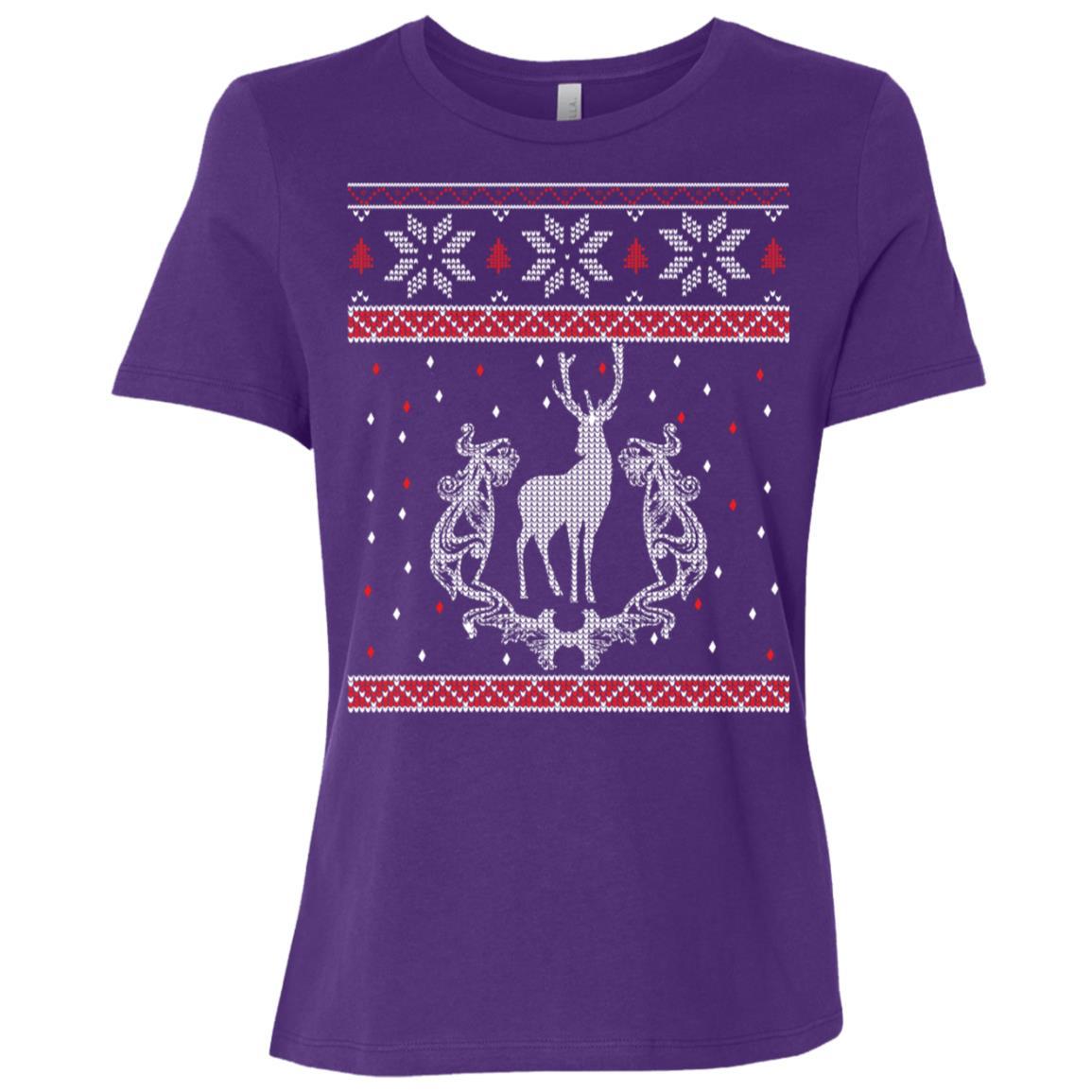 Deer Hunter Ugly Sweatshirt Hunter Christmas Gift Women Short Sleeve T-Shirt