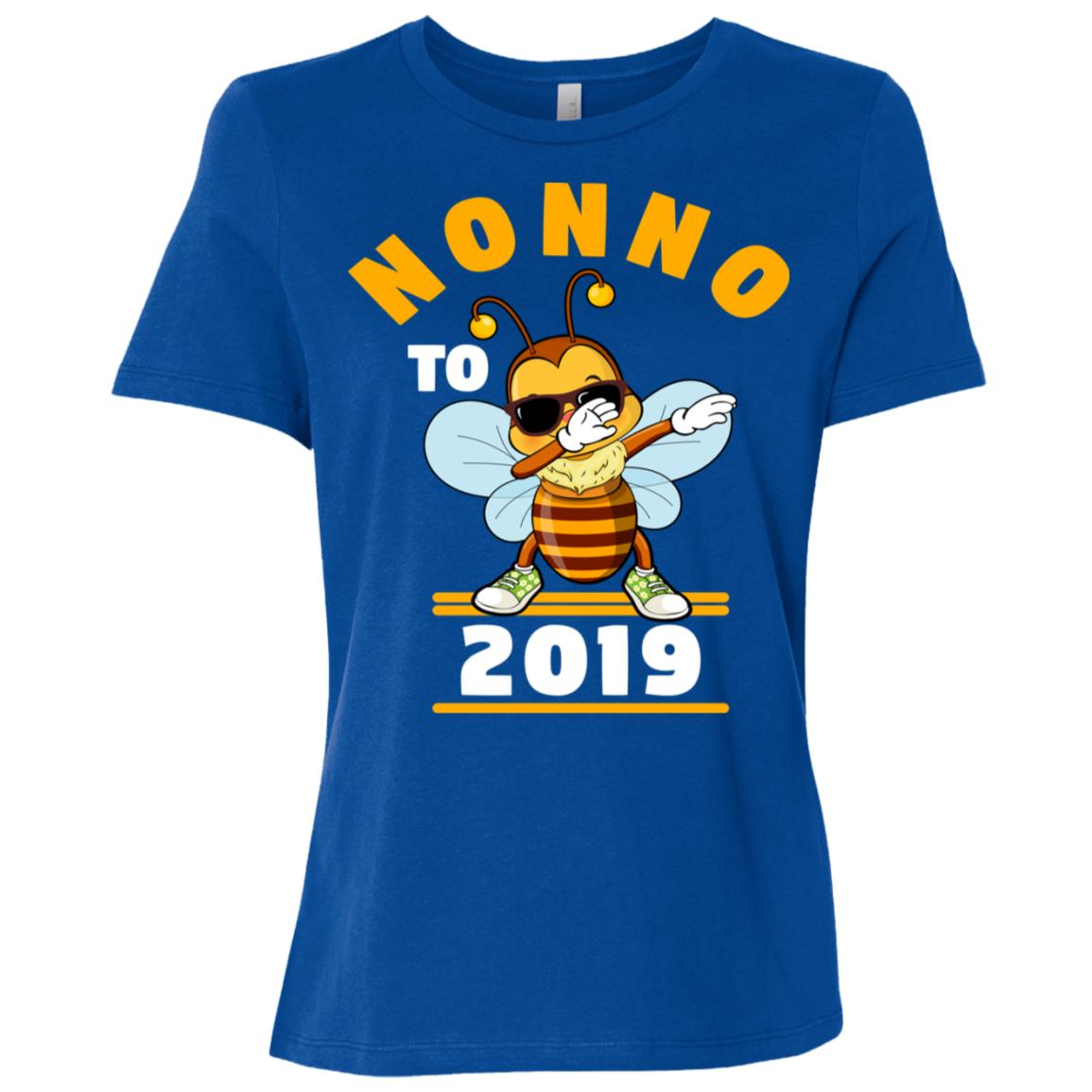 Grandpa To Be 2019 Nonno Dabbing Bee Women Short Sleeve T-Shirt