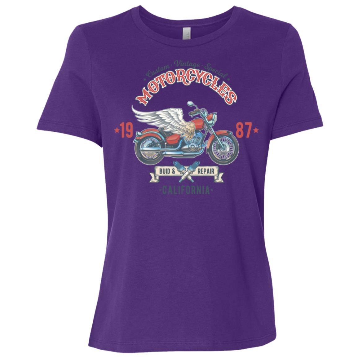 Vintage Special Motorcycles California Women Short Sleeve T-Shirt