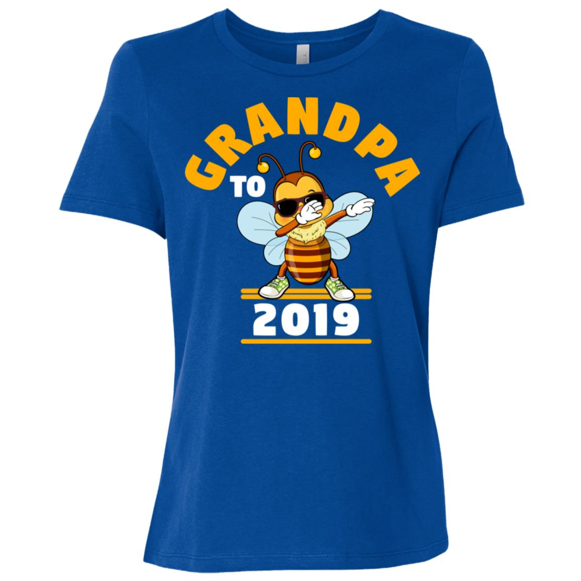 Grandpa To Be 2019 Dabbing Bee Women Short Sleeve T-Shirt