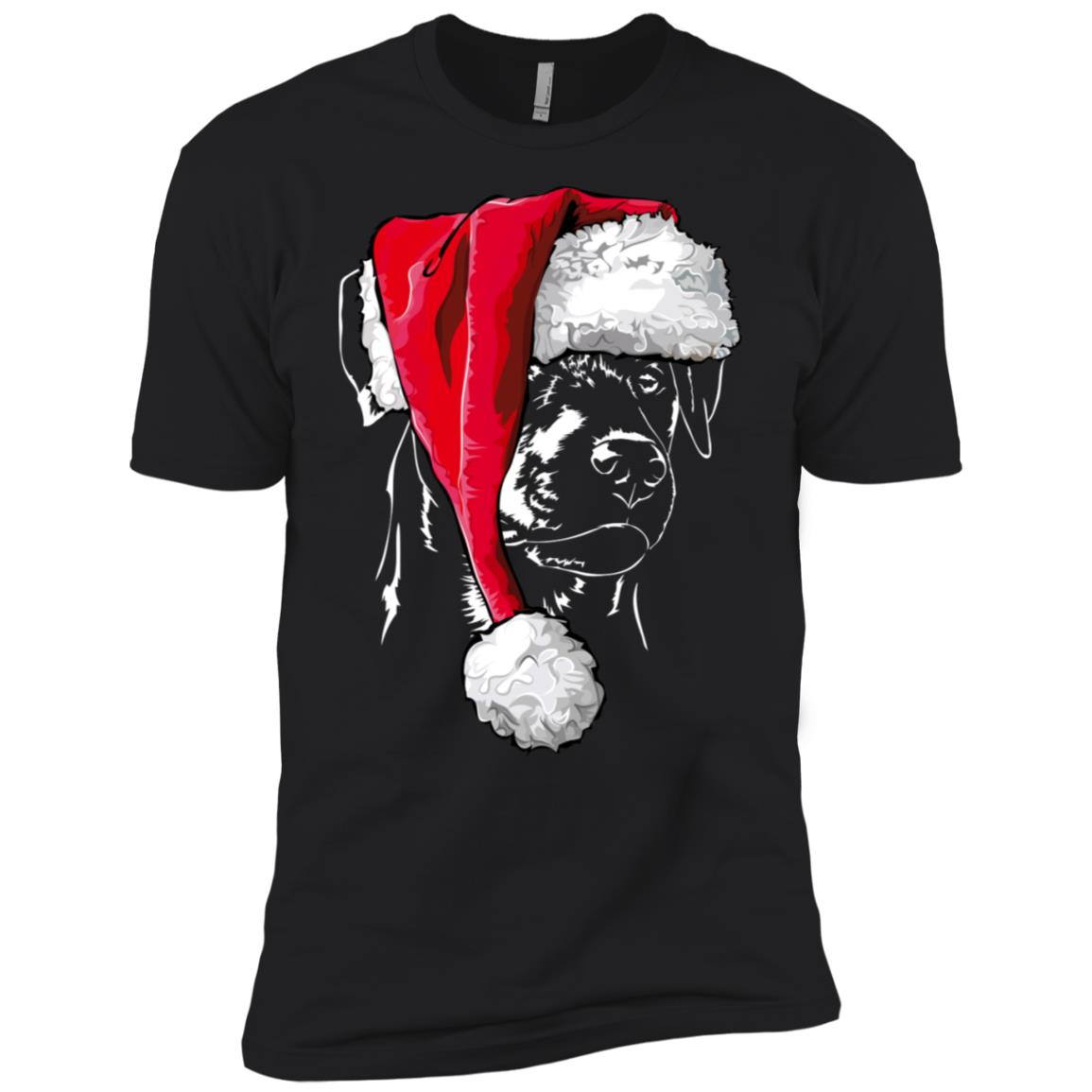 Funny German Hunting Terrier Christmas Men Short Sleeve T-Shirt