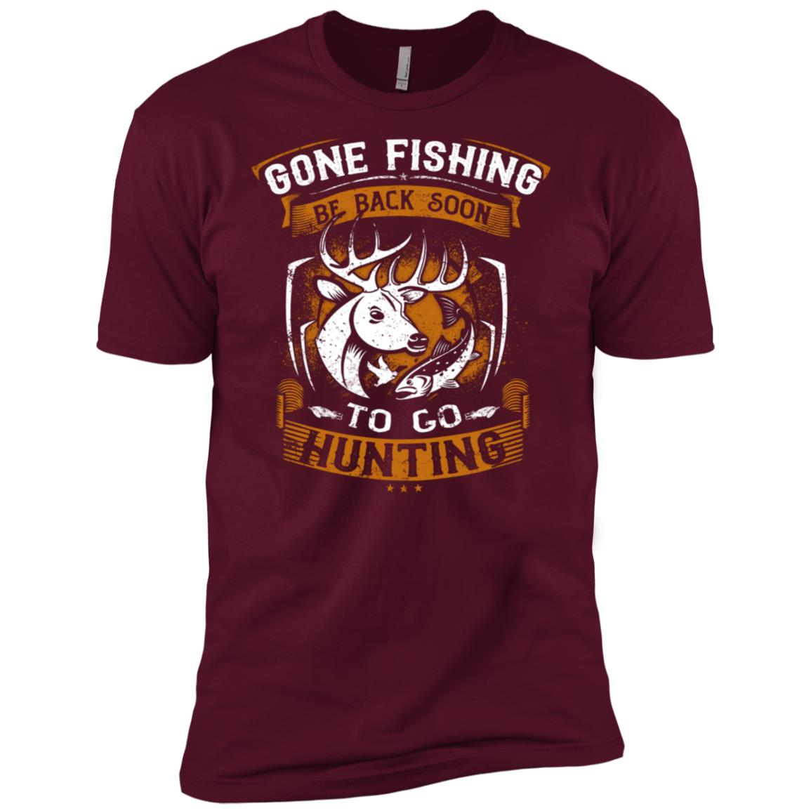 Funny Fishing Hunting Gift for Hunters-1 Men Short Sleeve T-Shirt