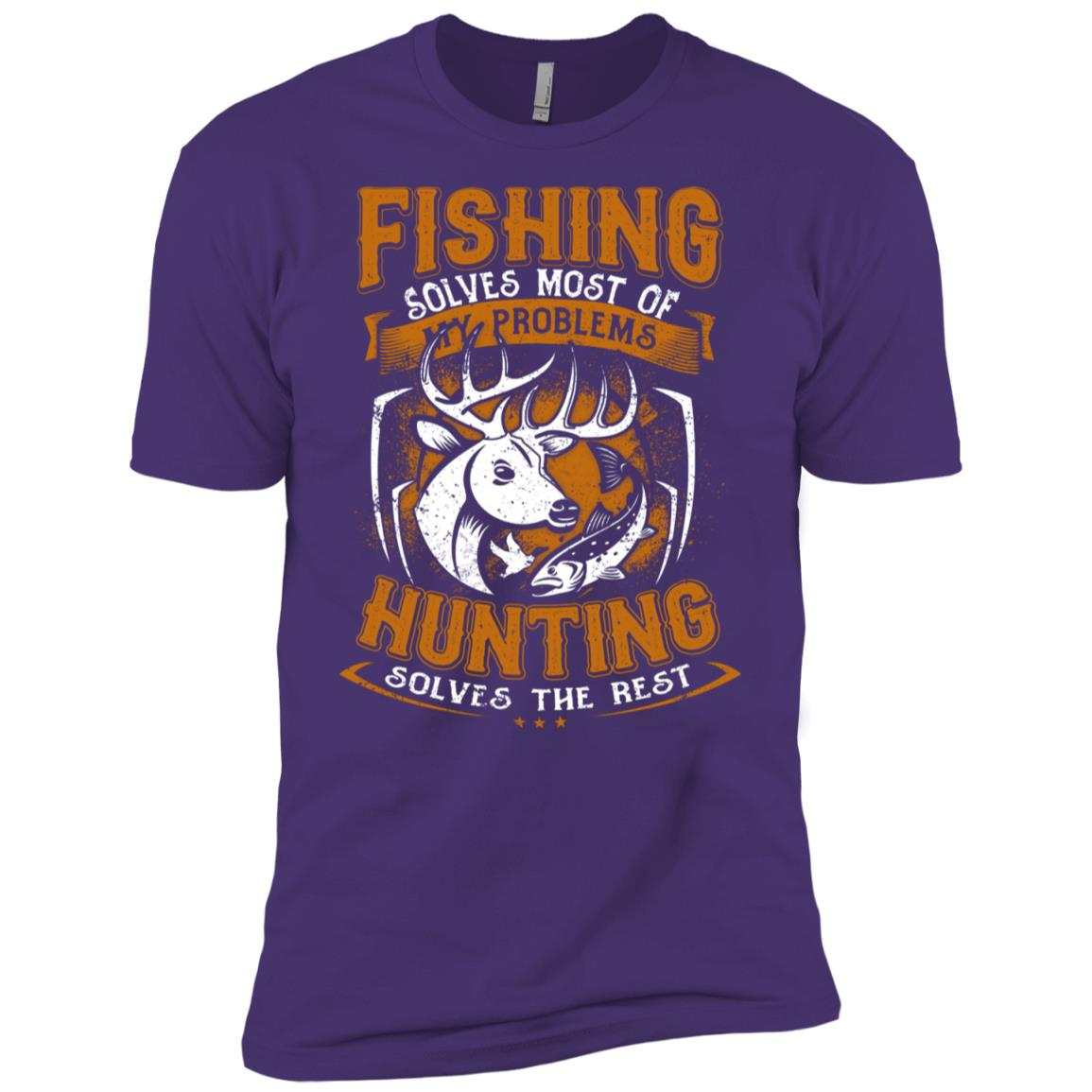 Funny Fishing Hunting Gift for Hunters Men Short Sleeve T-Shirt