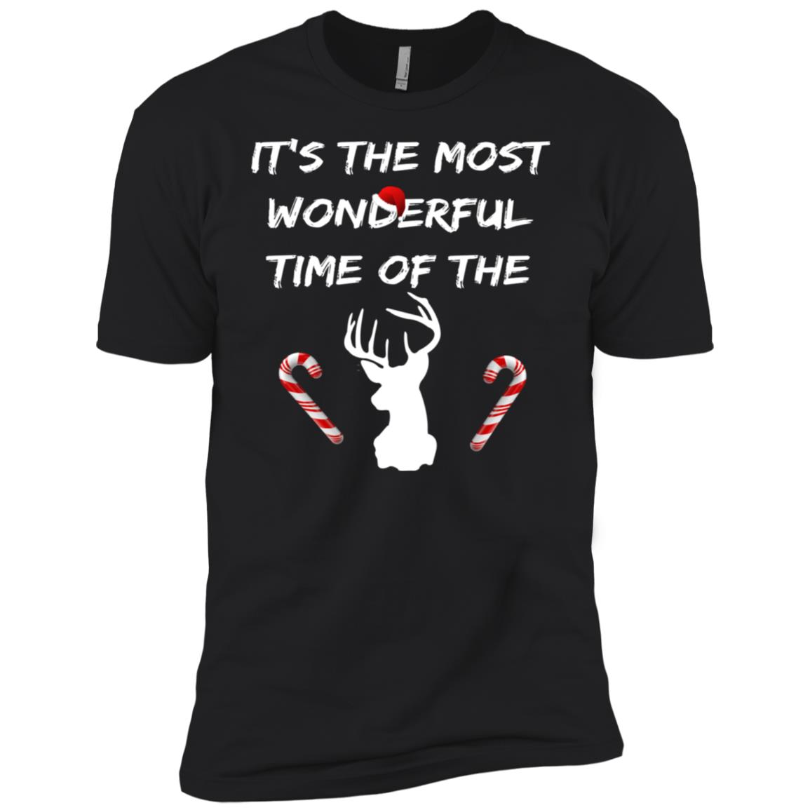 Funny Deer Hunting Christmas Men Short Sleeve T-Shirt