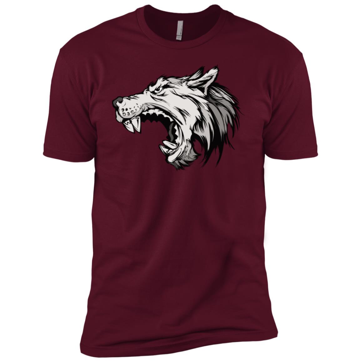 Fierce Wolf Pack Long – Sports Mascot Dog Howling Men Short Sleeve T-Shirt