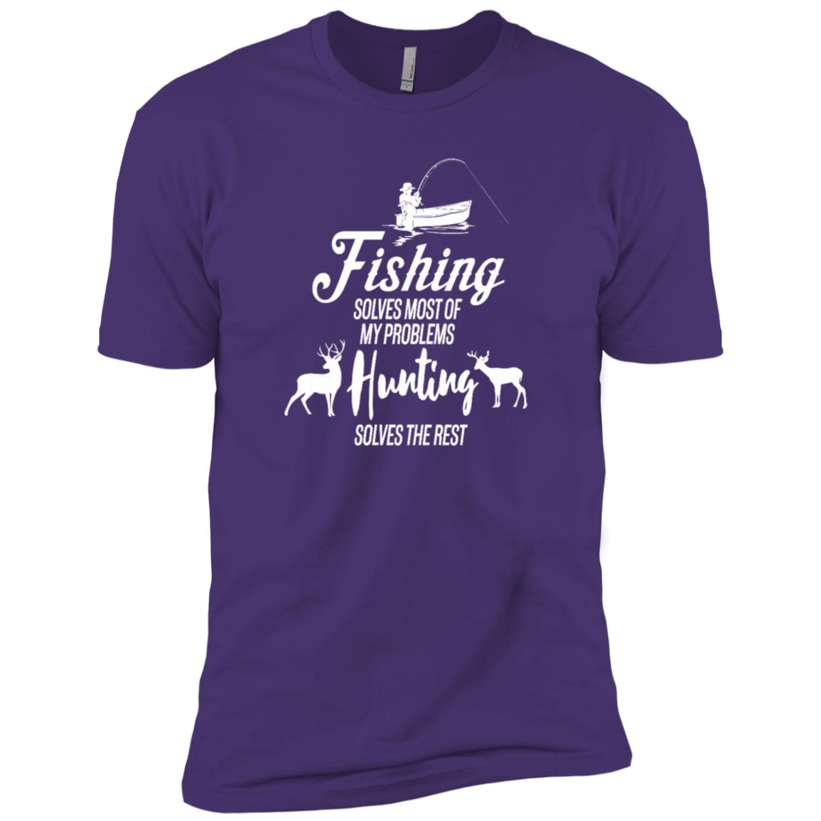 Fishing Solves Most Of My Problems Funny Outdoor Men Short Sleeve T-Shirt