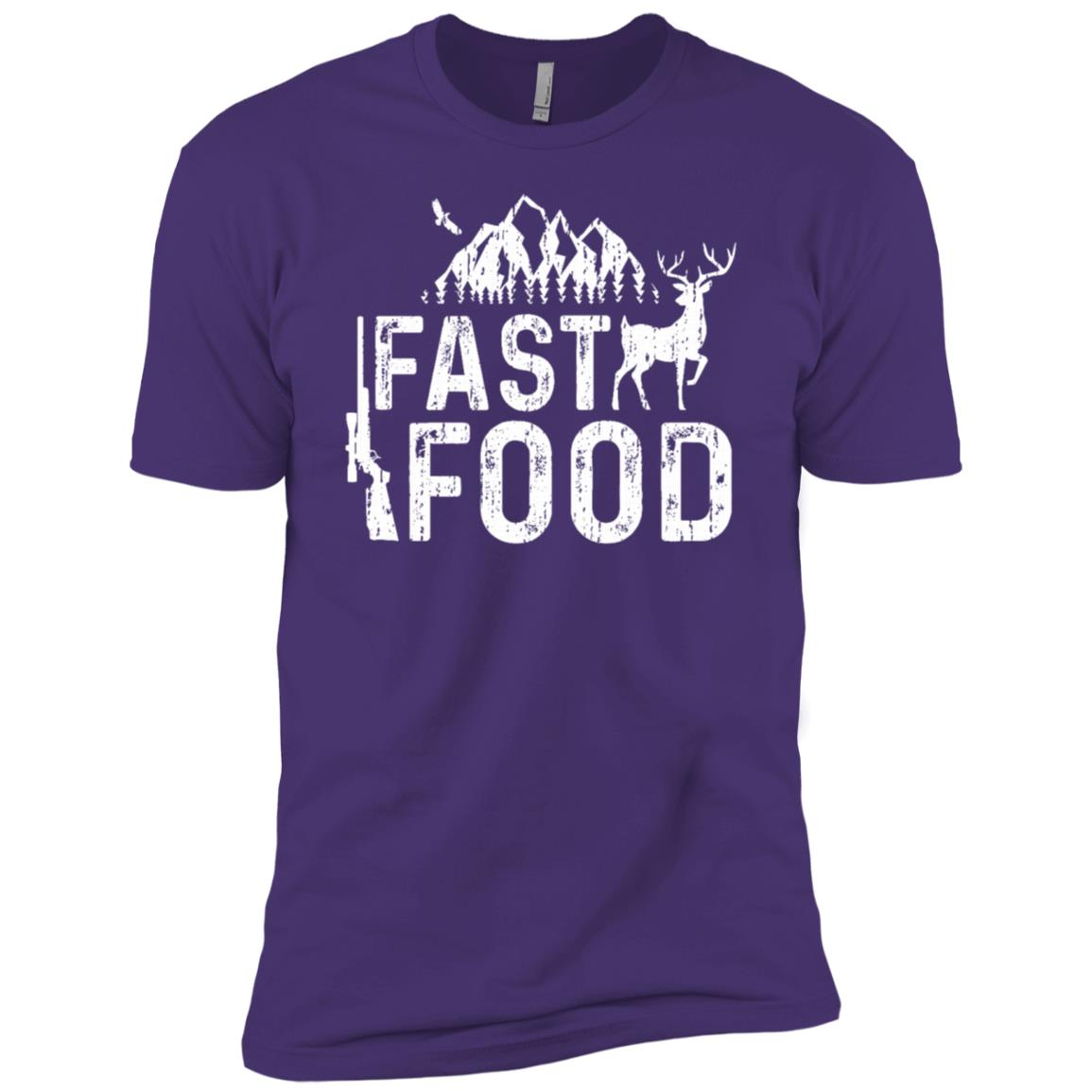 Fast Food Hunting Deer Hunting Men Short Sleeve T-Shirt