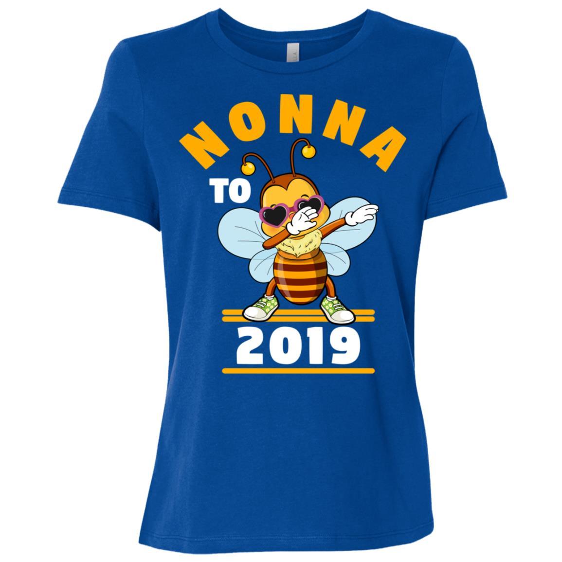 Grandma To Be 2019 Nonna Dabbing Bee Women Short Sleeve T-Shirt