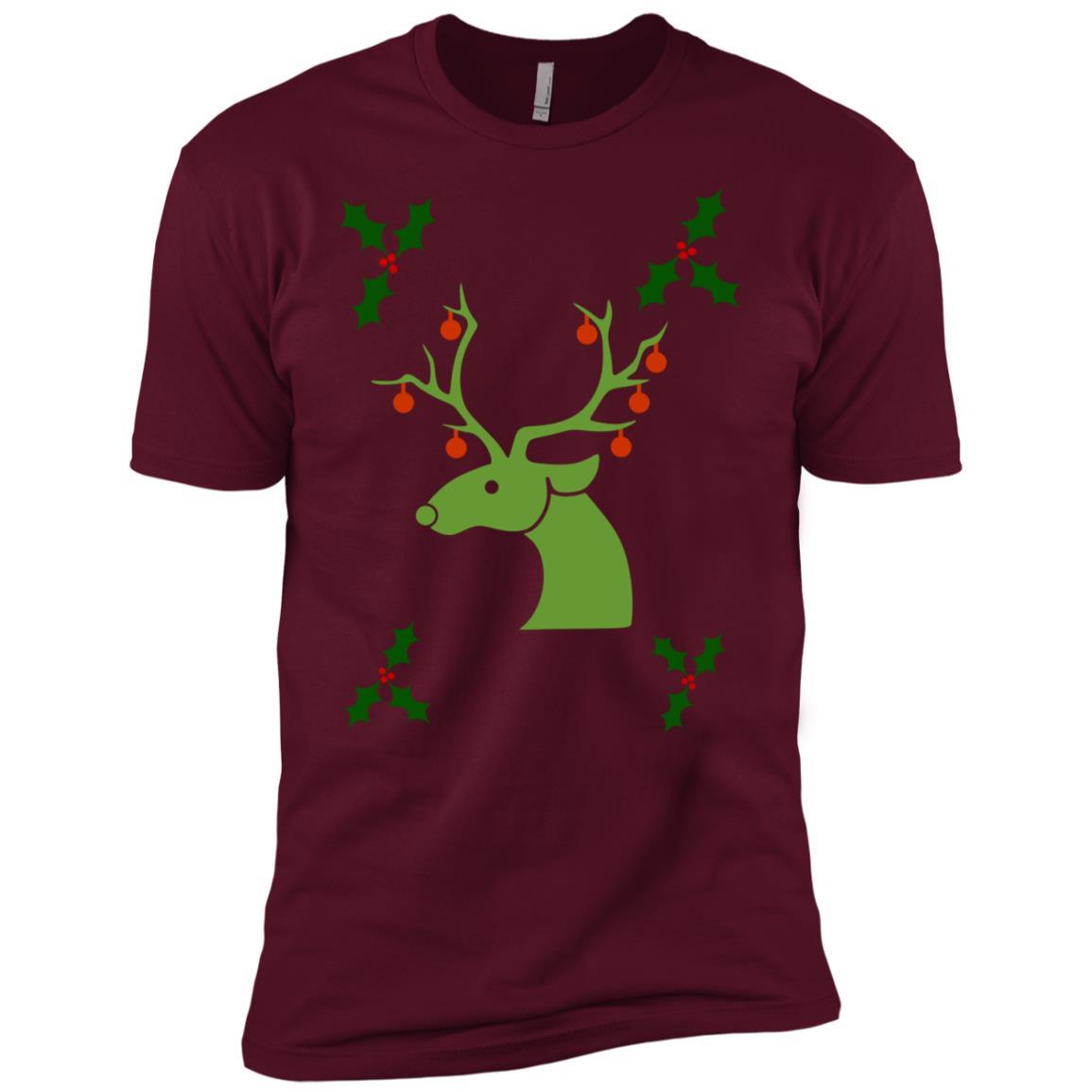 Deer Christmas Men Women Men Short Sleeve T-Shirt
