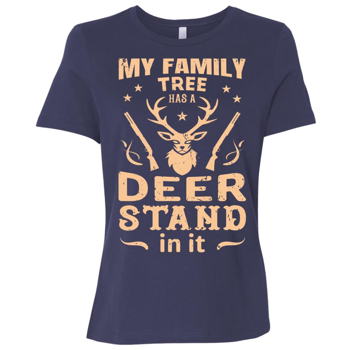 Funny Rifle Deer Hunting Gun Hunter Gift Women Short Sleeve T-Shirt