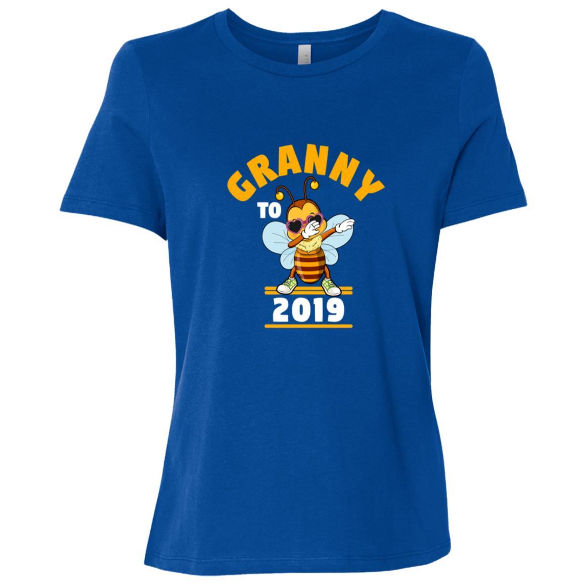 Grandma To Be 2019 Dabbing Bee Women Short Sleeve T-Shirt