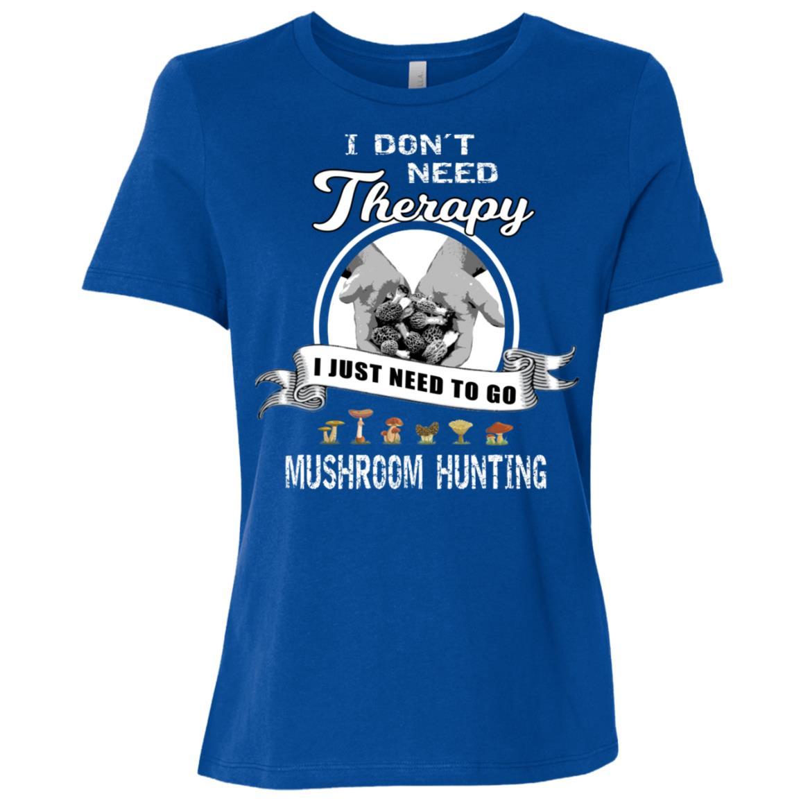Funny Mushroom Hunting Therapy Morel Hunter Gift Women Short Sleeve T-Shirt