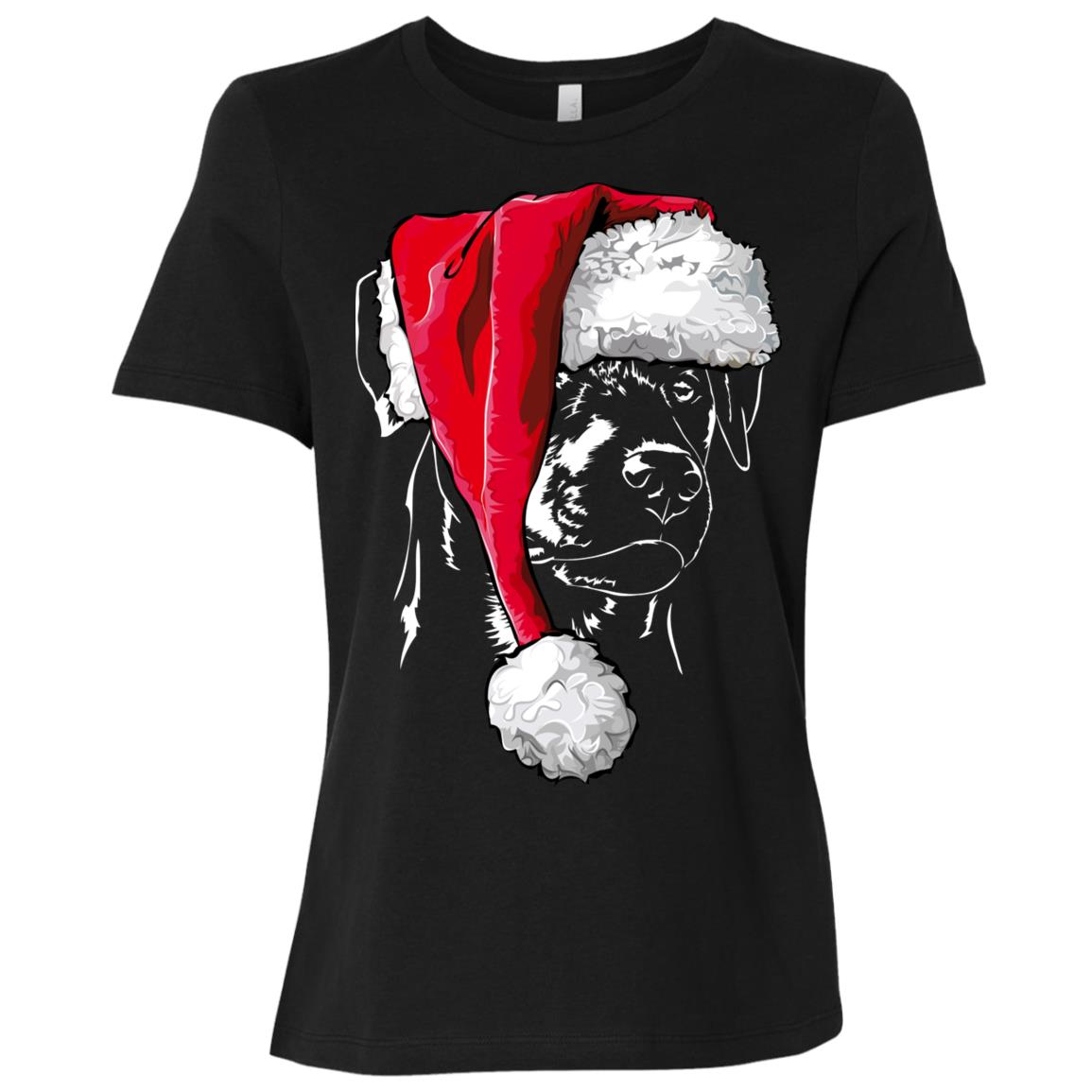 Funny German Hunting Terrier Christmas Women Short Sleeve T-Shirt