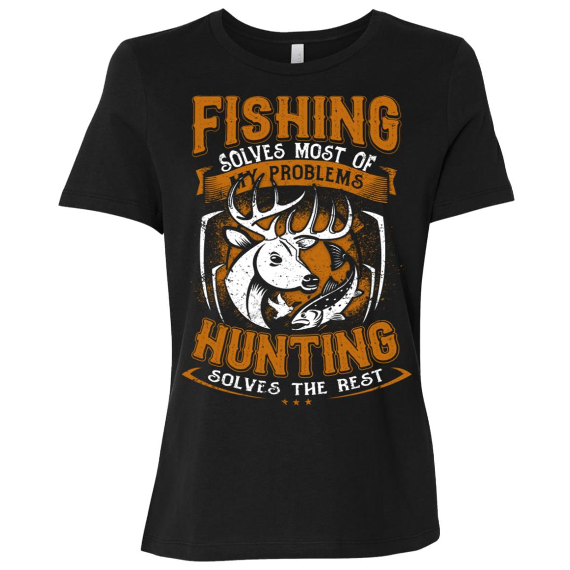 Funny Fishing Hunting Gift for Hunters Women Short Sleeve T-Shirt