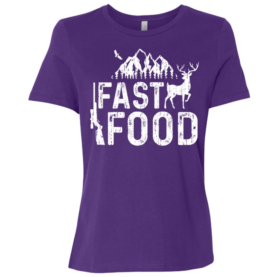 Fast Food Hunting Deer Hunting Women Short Sleeve T-Shirt