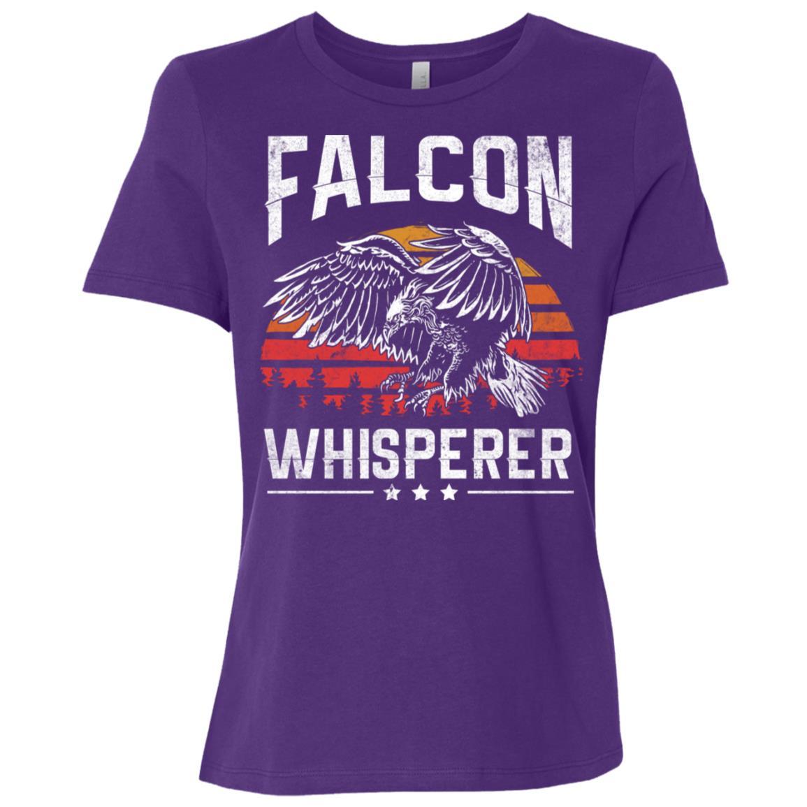 Falcon Whisperer Falconry Hunting Gift For Hunter Women Short Sleeve T-Shirt