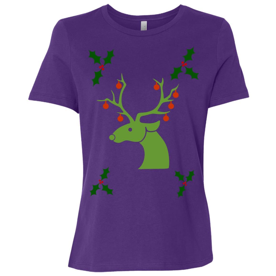 Deer Christmas Men Women Women Short Sleeve T-Shirt