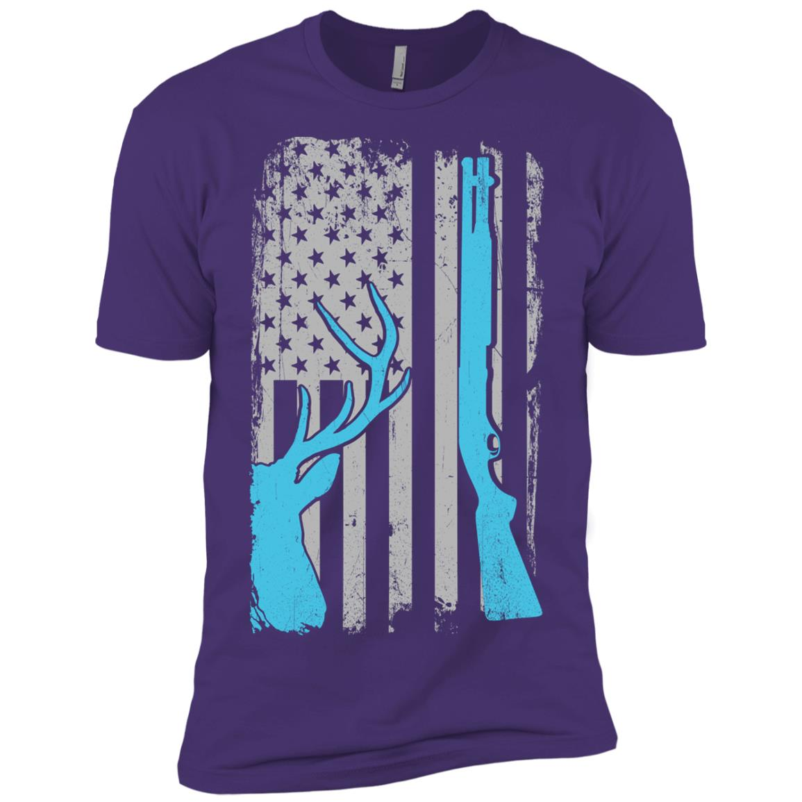 Shotgun Hunting – Whitetail Hunt Us Flag Men Short Sleeve T-Shirt