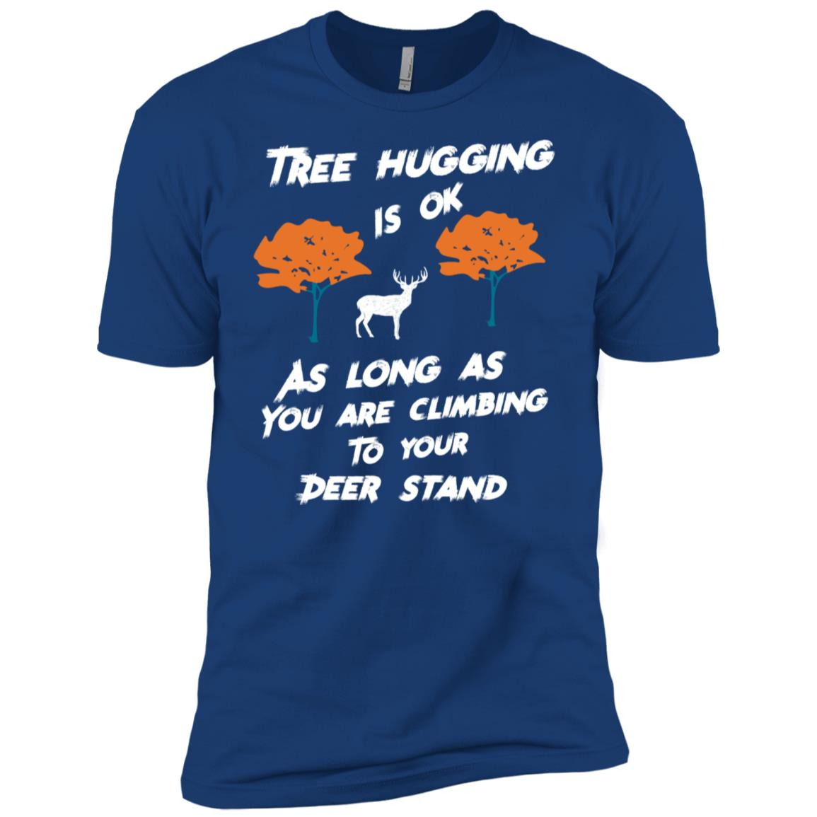 Tree Hunting is o.k., funny Deer Stand Hunting Men Short Sleeve T-Shirt
