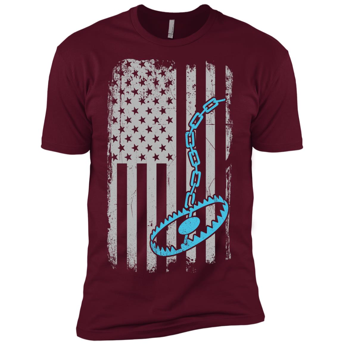 Trapper – Trapping Us American Flag Tee Men Short Sleeve T-Shirt
