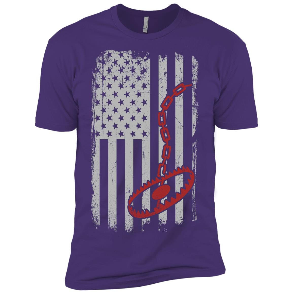Trapper – Trapping Us American Flag GIft Men Short Sleeve T-Shirt