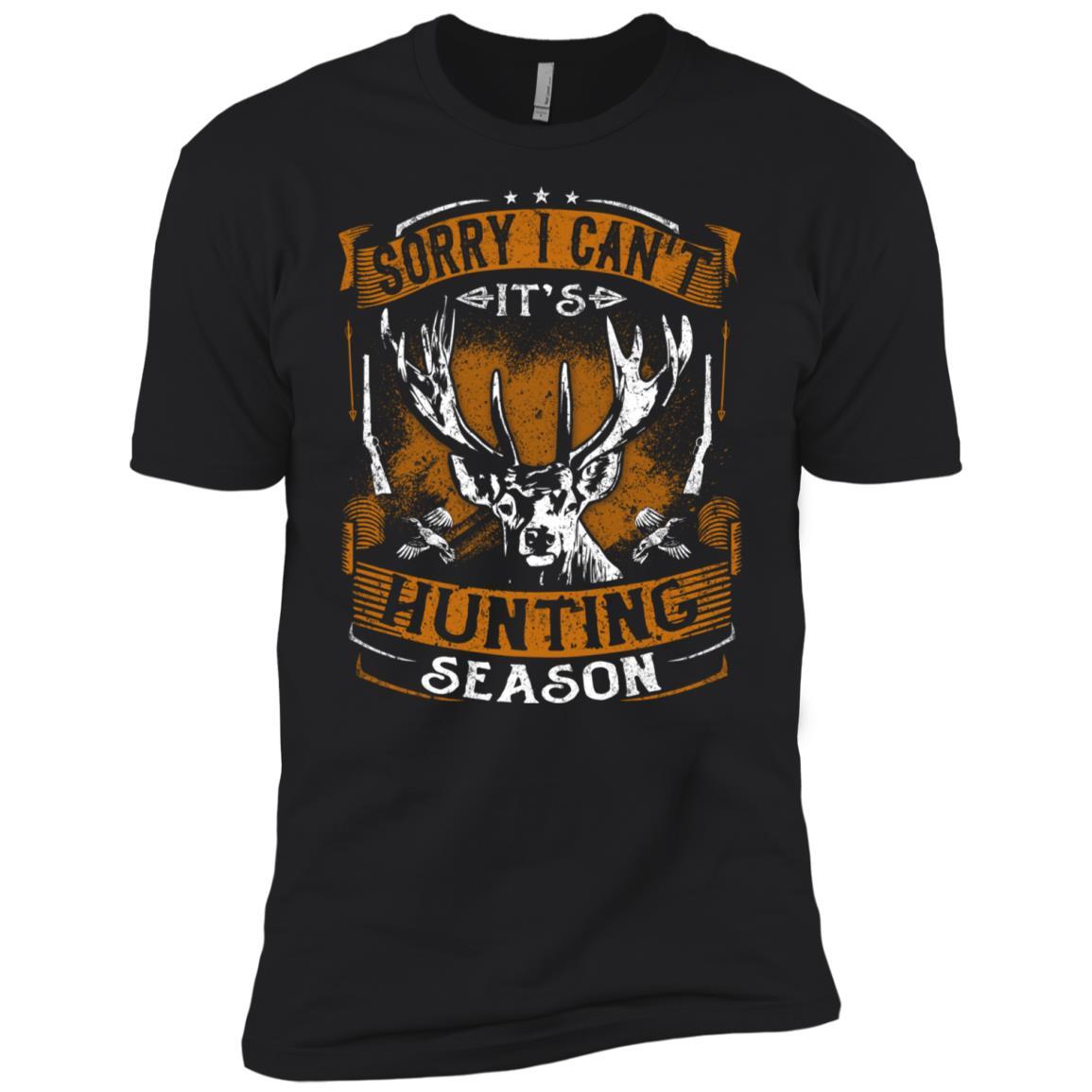 Sorry I Can't It's Hunting Season Deer Hunters Men Short Sleeve T-Shirt