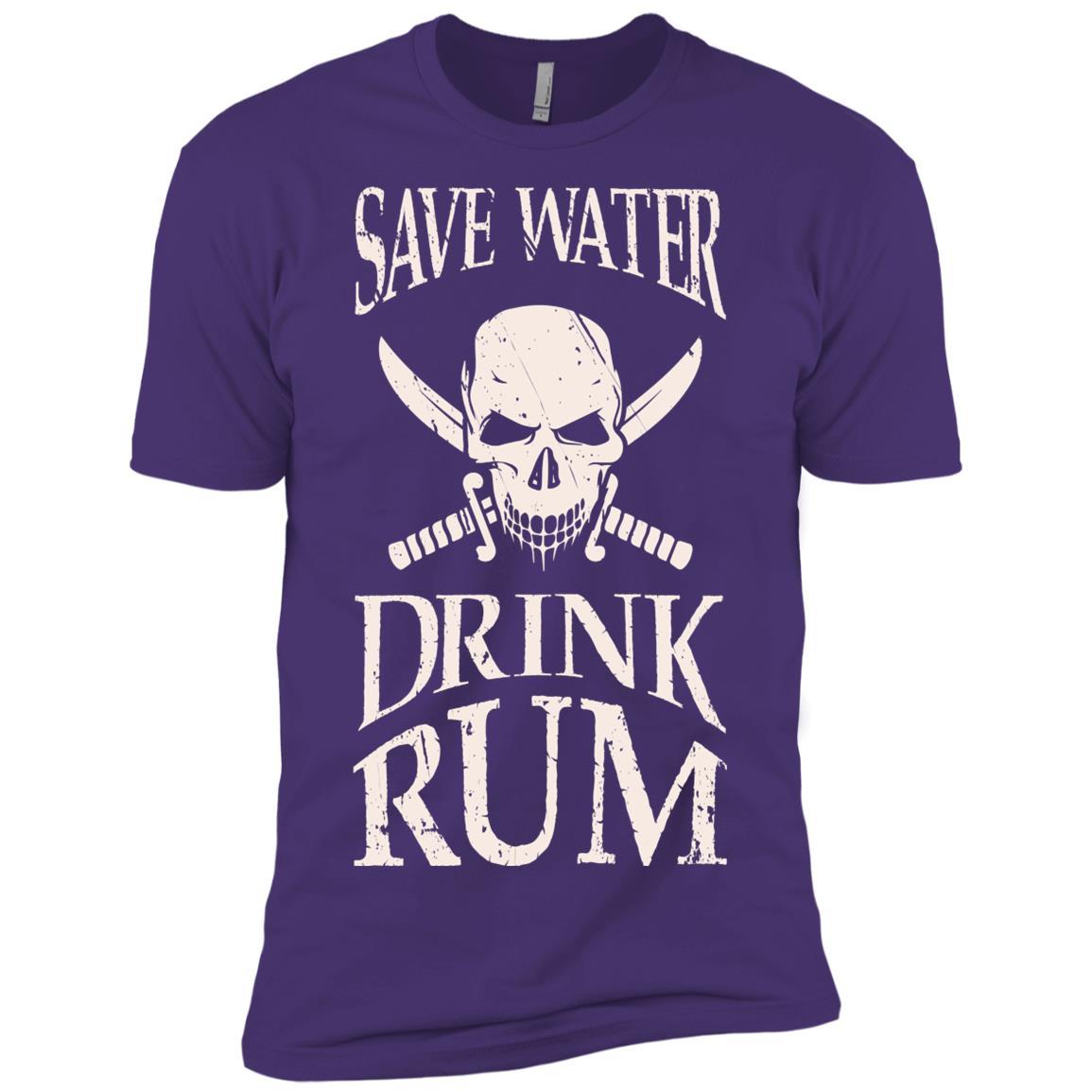 Save Water Drink Rum, Buccaneer Pirate Men Short Sleeve T-Shirt