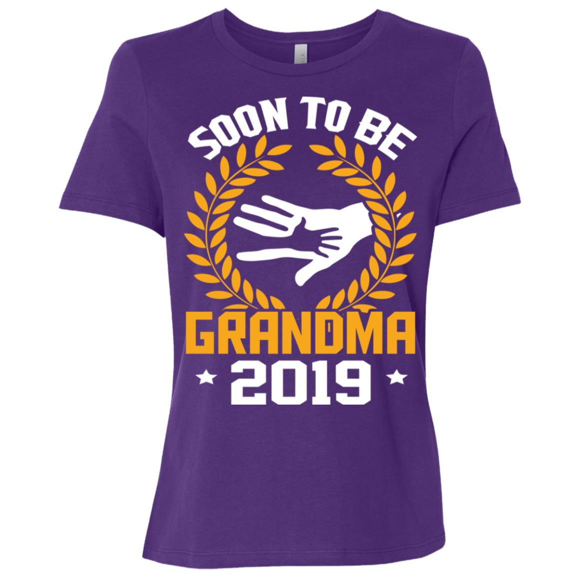 Funny Soon To Be Grandma New Baby 2019 Women Short Sleeve T-Shirt