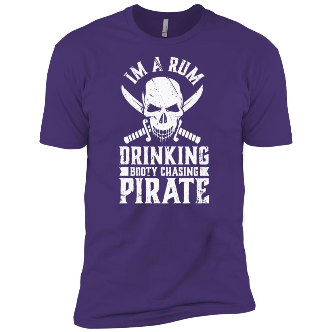 Rum Drinking Booty Chasing Pirate Gasparilla Men Short Sleeve T-Shirt