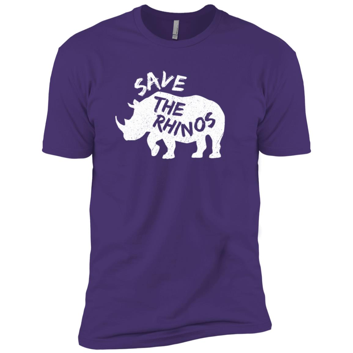 Rhino Silhouette – Save the Rhinos Men Short Sleeve T-Shirt