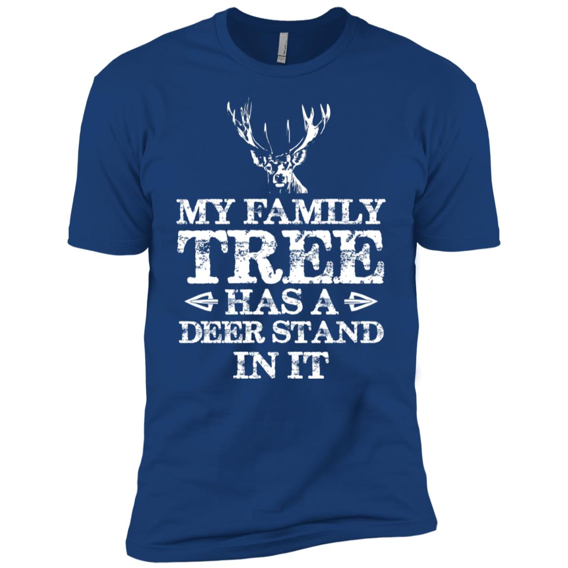 My Family Tree Has A Deer Stand In It Hunting Men Short Sleeve T-Shirt