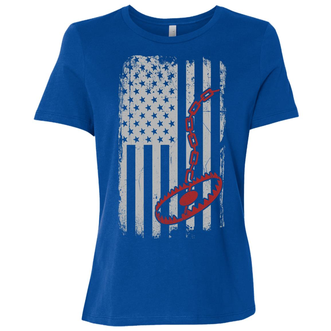 Trapper – Trapping Us American Flag GIft Women Short Sleeve T-Shirt