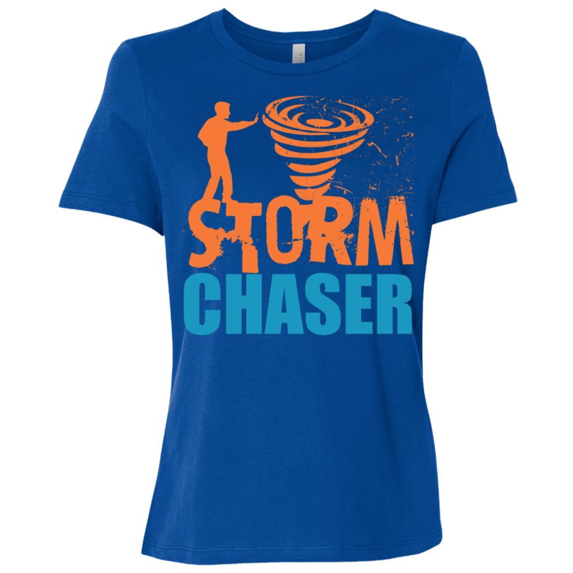 Storm Chaser Weather Tornado Meteorologist Hurricanes Women Short Sleeve T-Shirt