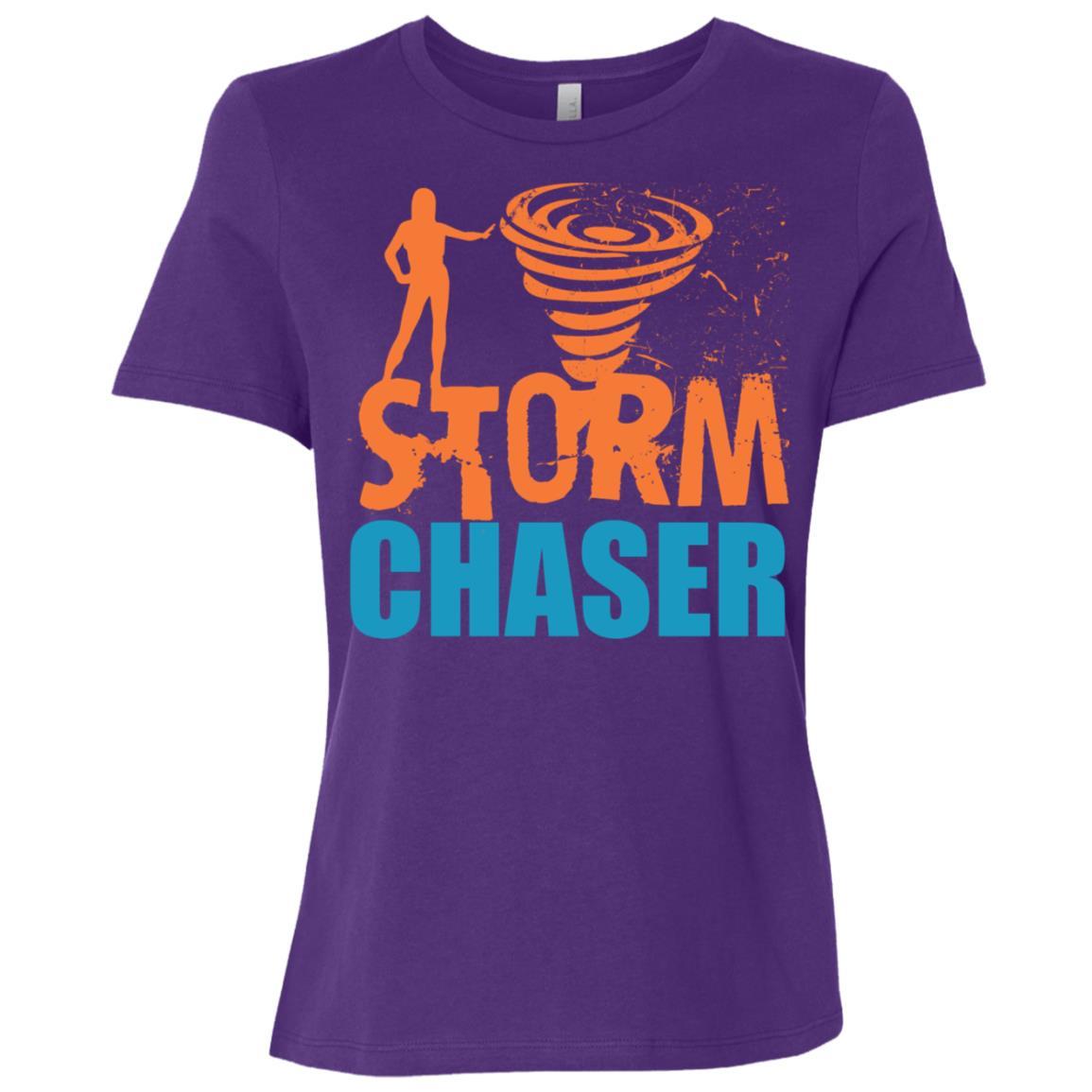 Storm Chaser Weather Tornado Hurricanes Meteorologist Women Short Sleeve T-Shirt