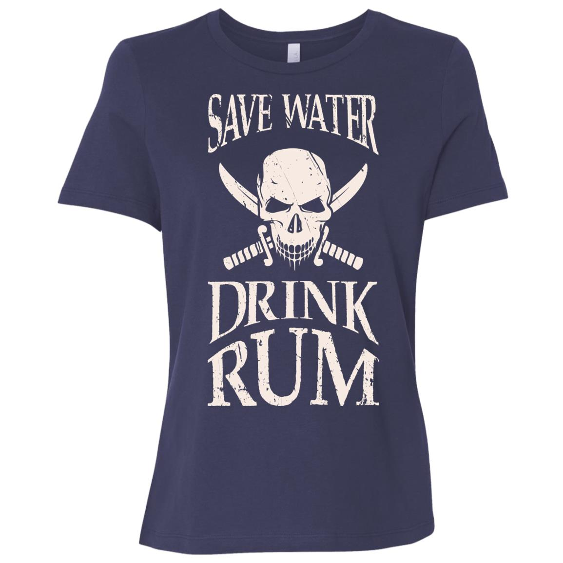 Save Water Drink Rum, Buccaneer Pirate Women Short Sleeve T-Shirt