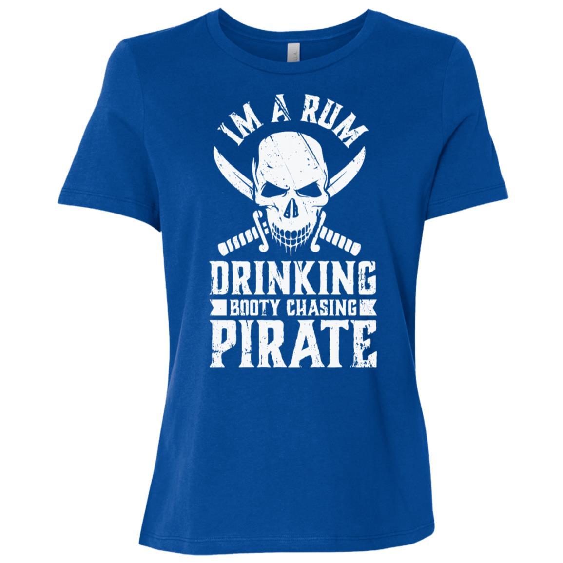 Rum Drinking Booty Chasing Pirate Gasparilla Women Short Sleeve T-Shirt