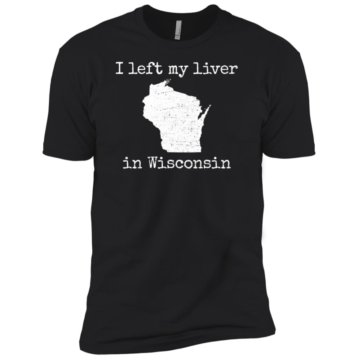 I left my liver in Wisconsin sconnie beer Men Short Sleeve T-Shirt