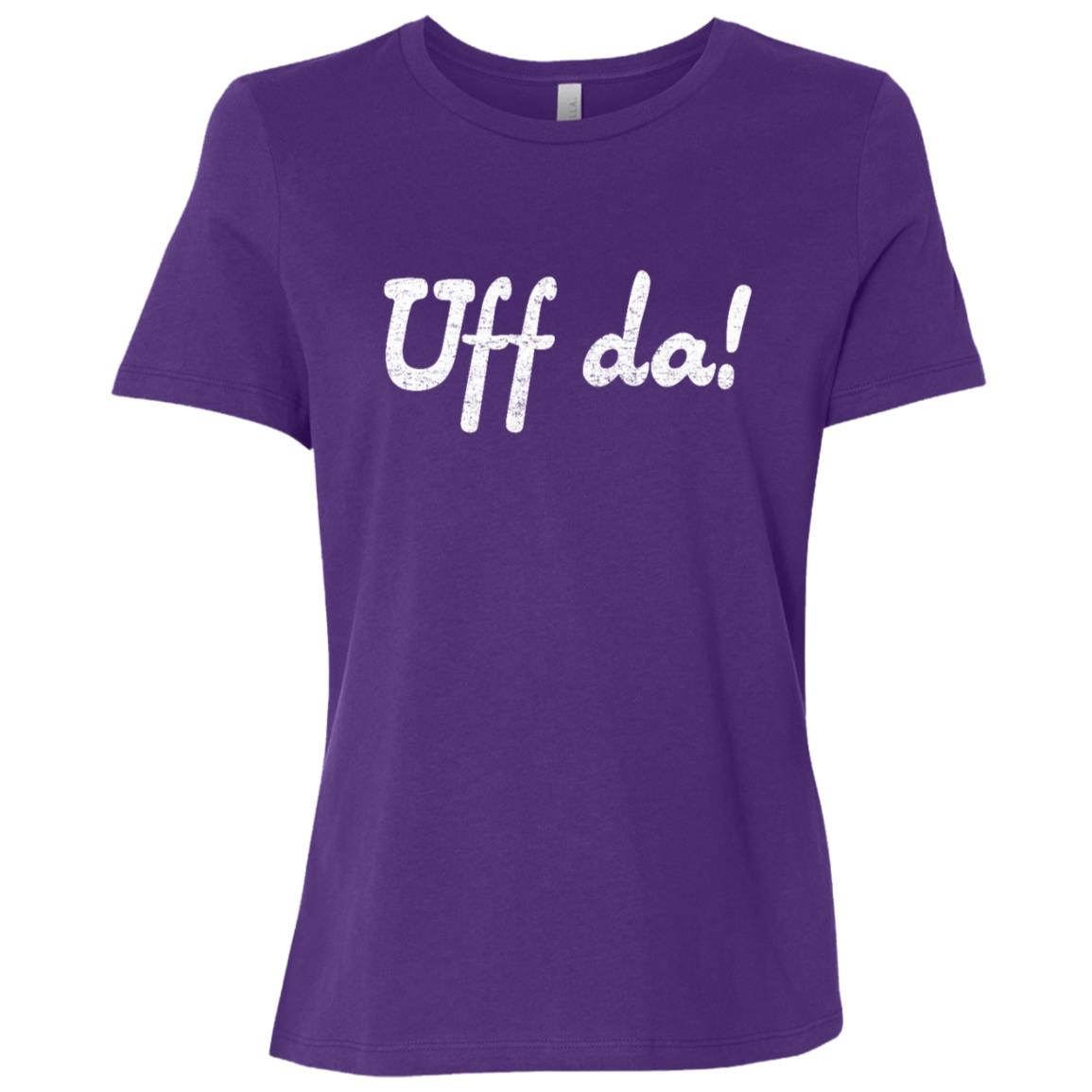 Uff da funny minnesotan wisconsinite midwesterner -1 Women Short Sleeve T-Shirt