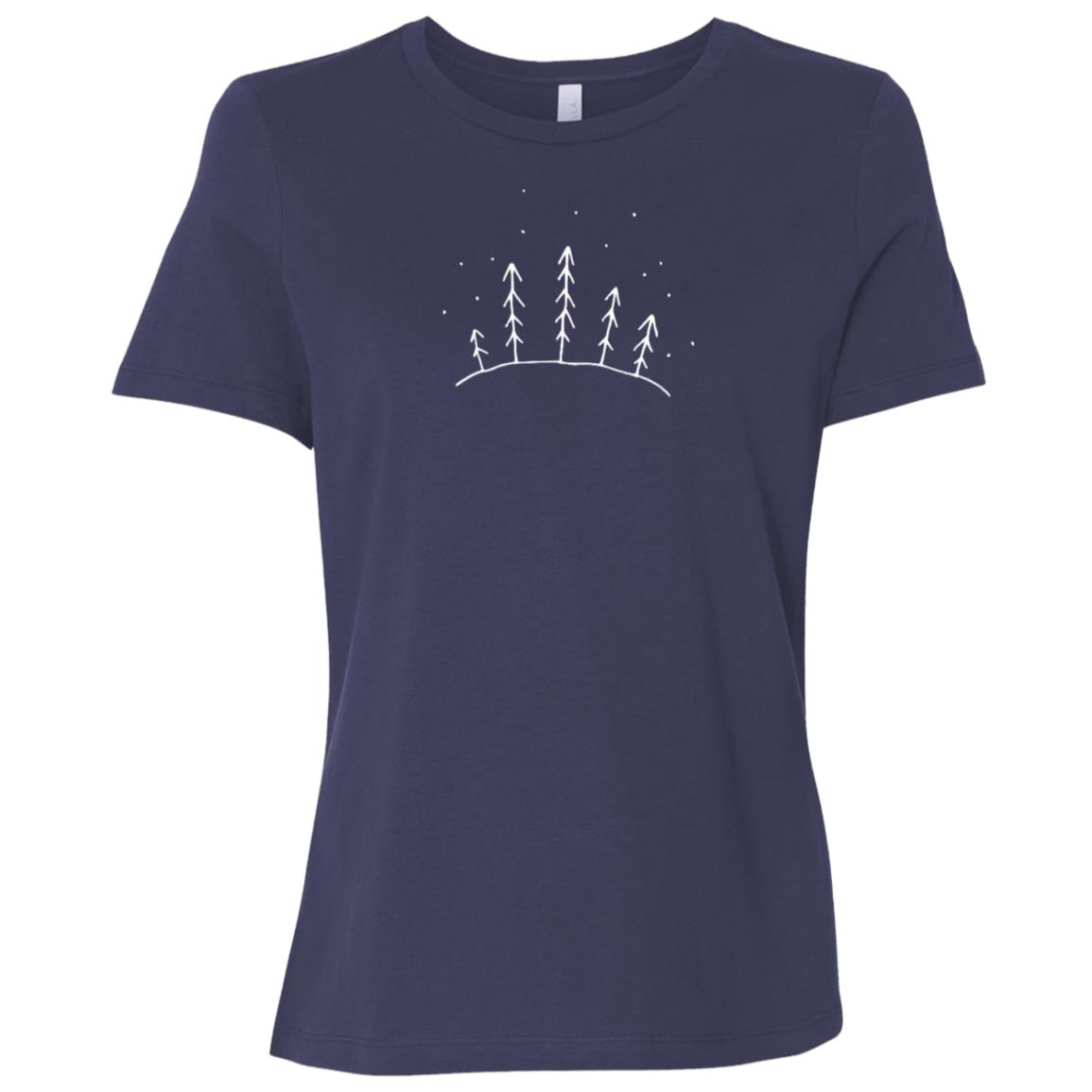 Minimalist Forest Hiking & Climbing Gift Women Short Sleeve T-Shirt