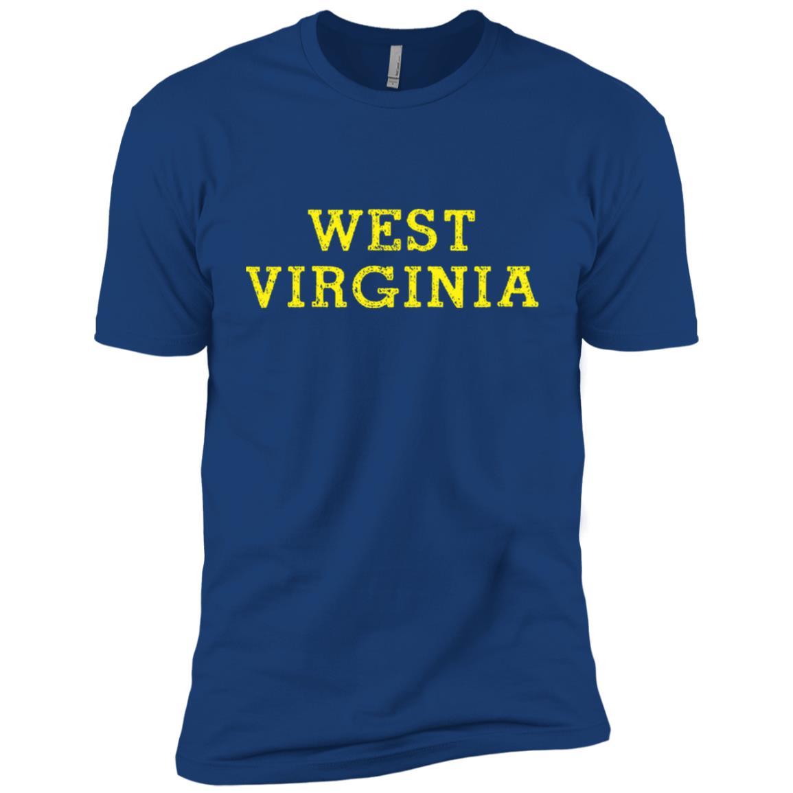 West Virginia Blue and Gold Men Short Sleeve T-Shirt