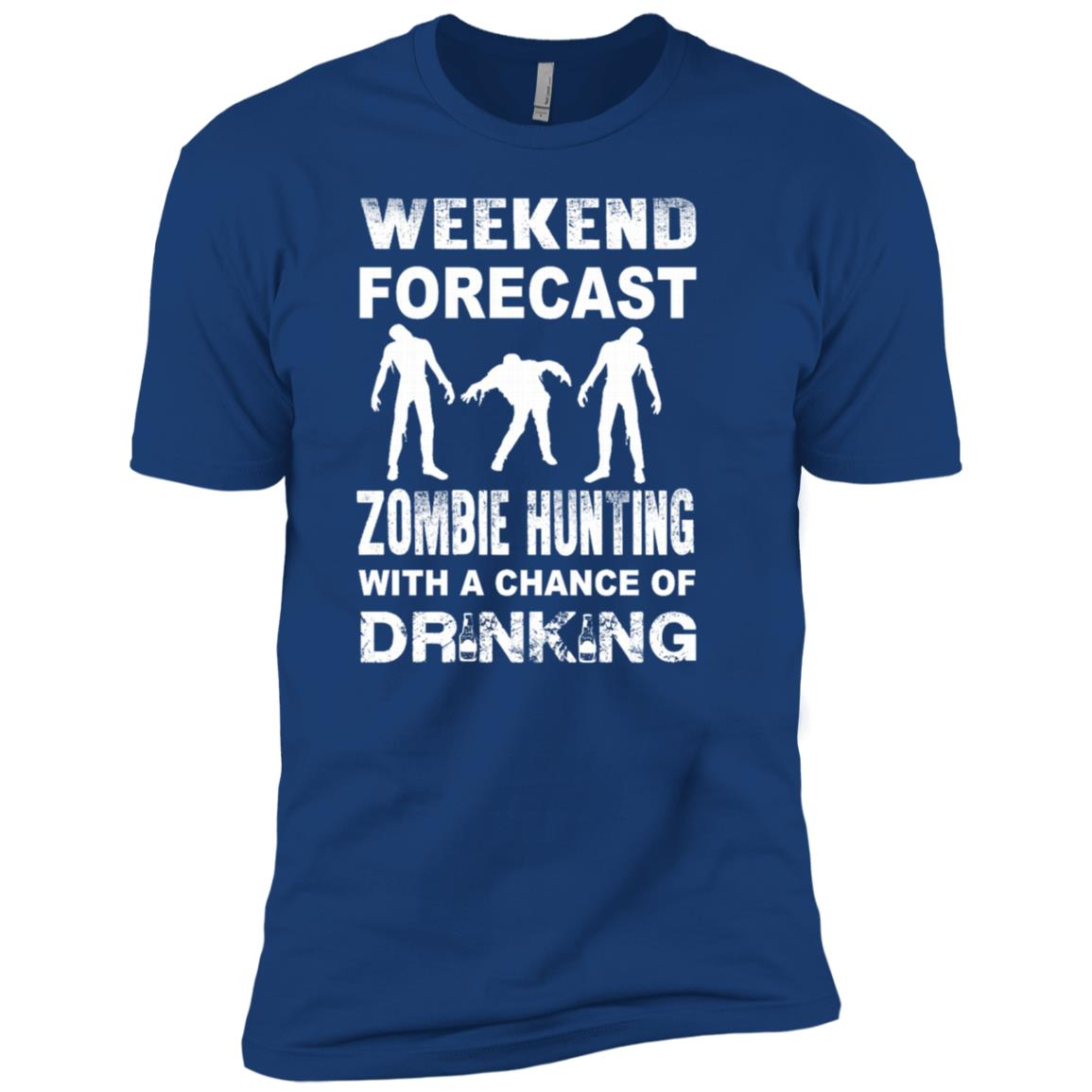 Weekend Zombie Hunting for young Men Short Sleeve T-Shirt
