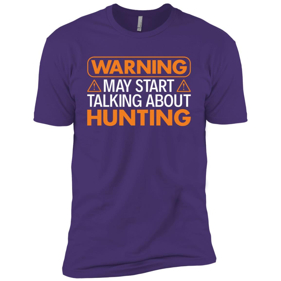 Warning May Start Talking About Hunting Men Short Sleeve T-Shirt