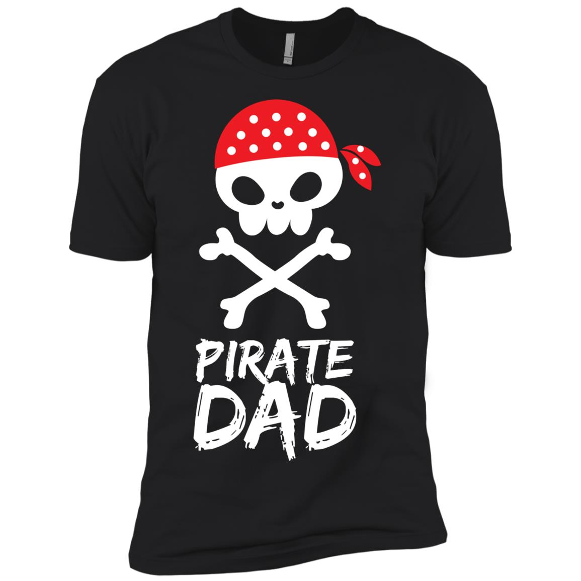 Pirate Dad Skull With Red Bandanna Funny Cartoon Dad Gift Men Short Sleeve T-Shirt