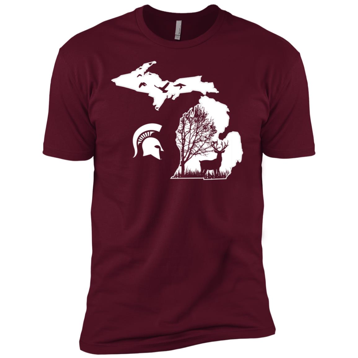 Michigan State Spartans Hunting – Deer Men Short Sleeve T-Shirt